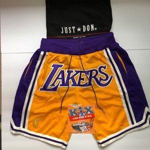 8649294bf Shorts - Lebron James LA Lakers Just Don Shorts